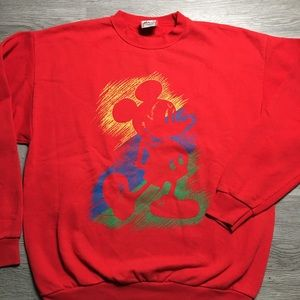 Vintage 80s Disney Designs Mickey Sweater Men L/XL